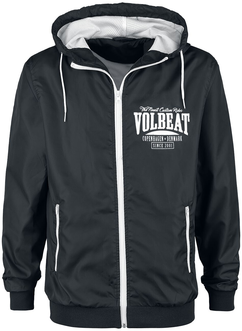 Image of   Volbeat Louder And Faster Windbreaker sort-hvid