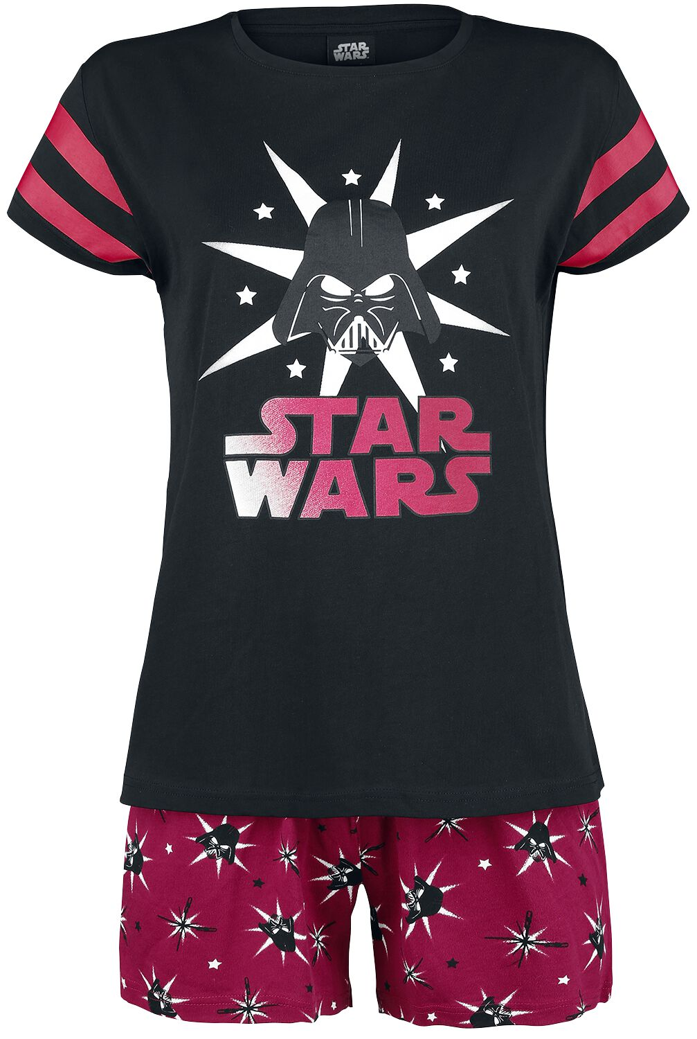 Image of   Star Wars Darth Vader - Stars Pyjamas sort-rød