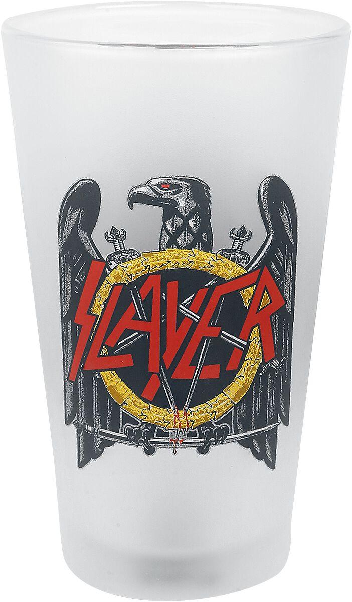 Image of   Slayer Eagle Logo Ølglas hvid