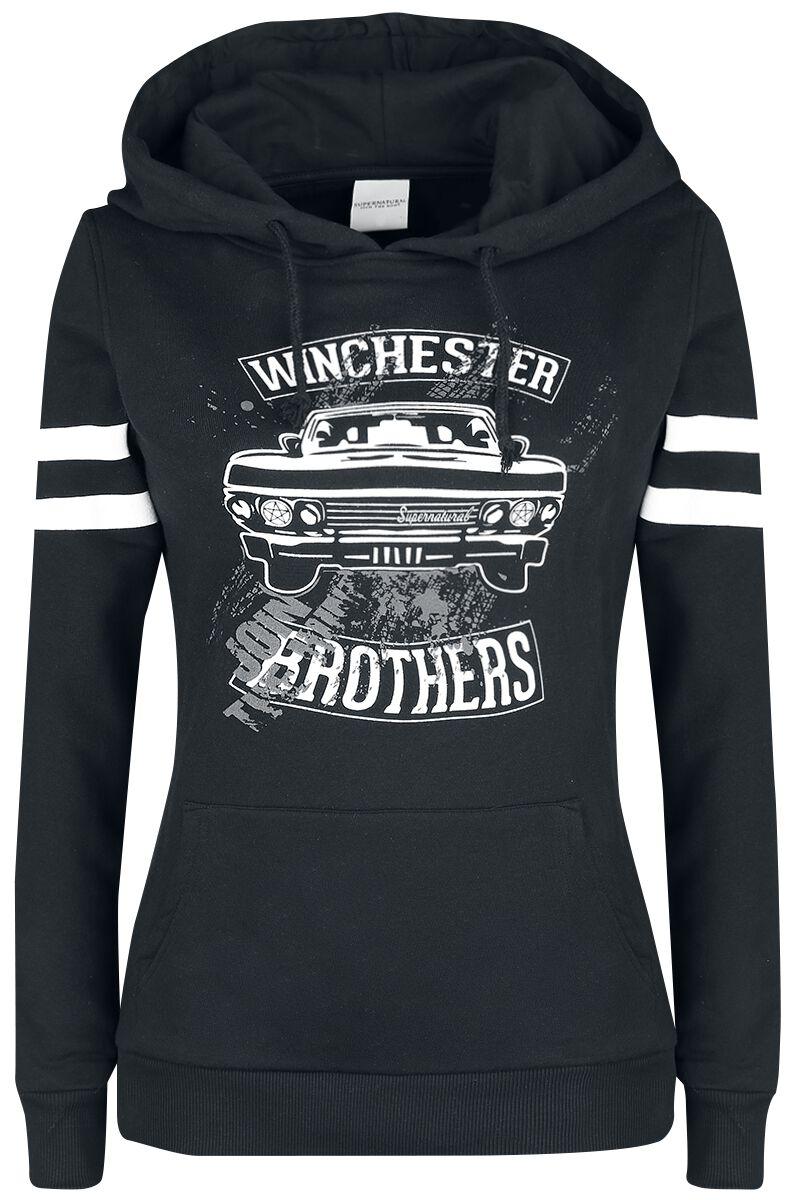 Image of   Supernatural Winchester Bros Girlie hættetrøje sort