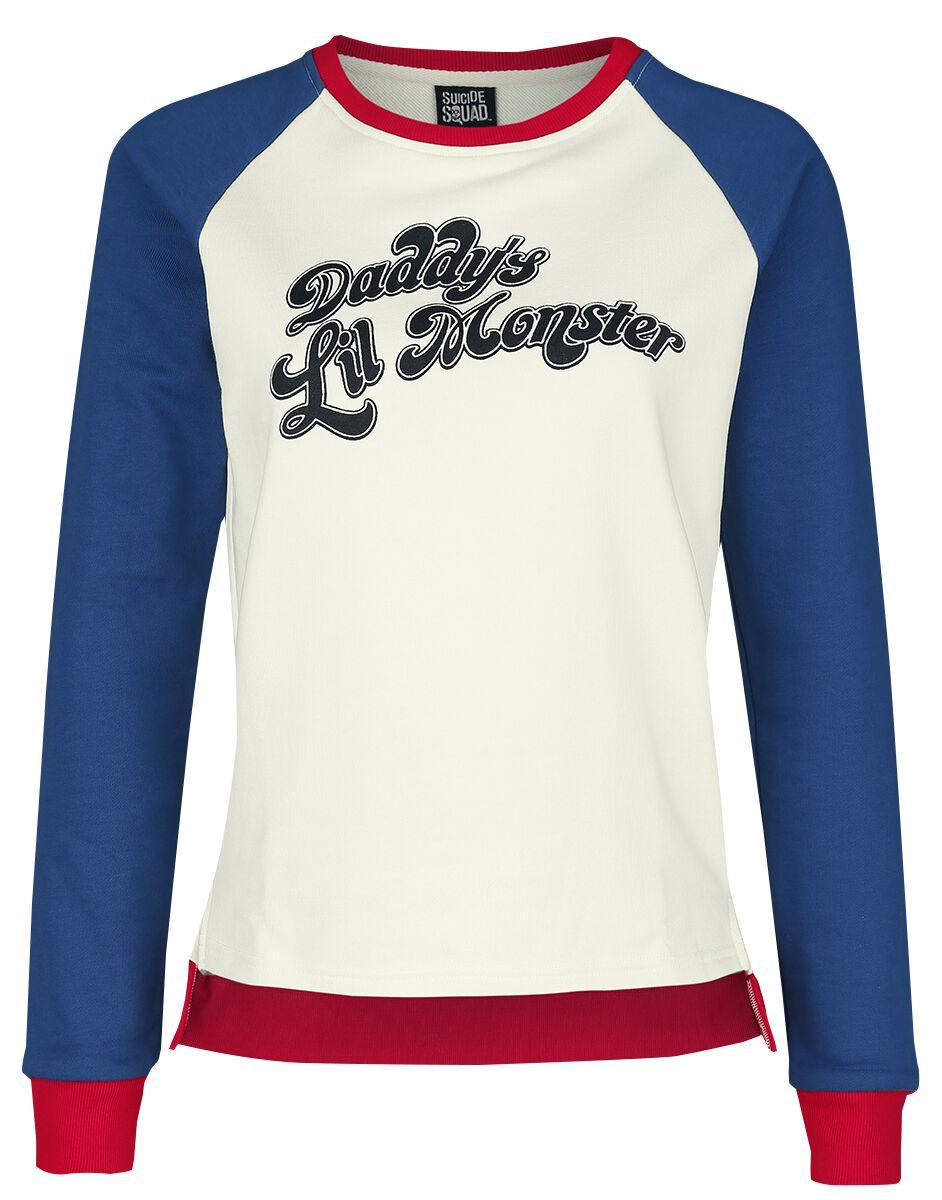 Image of   Suicide Squad Daddy's Lil Monster Girlie sweatshirt multifarvet