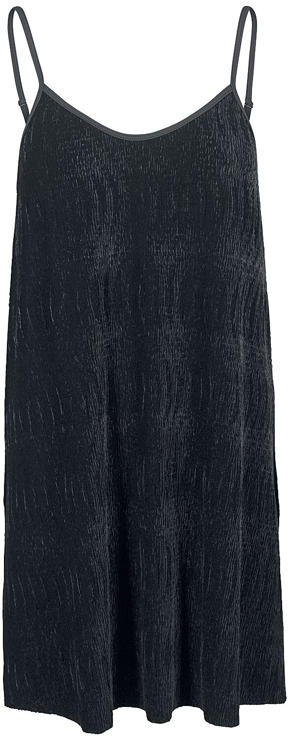 Urban Classics Ladies Velvet Slip Dress Sukienka czarny