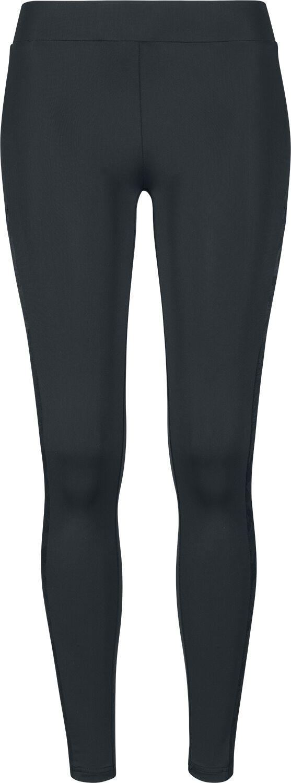 Hosen für Frauen - Urban Classics Ladies Jacquard Camo Striped Leggings Leggings black camo  - Onlineshop EMP