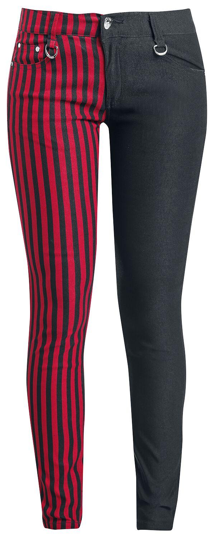 Image of   Banned Punk bukser Girlie bukser sort-rød