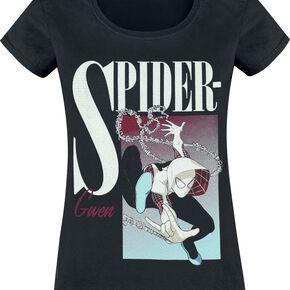 Spider-Man Spider-Gwen Boxed T-shirt Femme noir