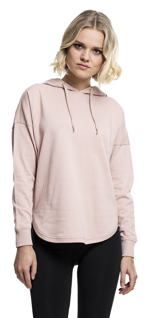 Urban Classics Ladies Oversized Terry Hoodie Bluza z kapturem damska jasnoróżowy (Light Pink)