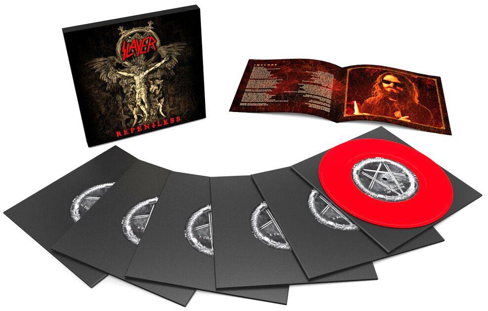 Image of   Slayer Repentless 6 x 7 inch rød