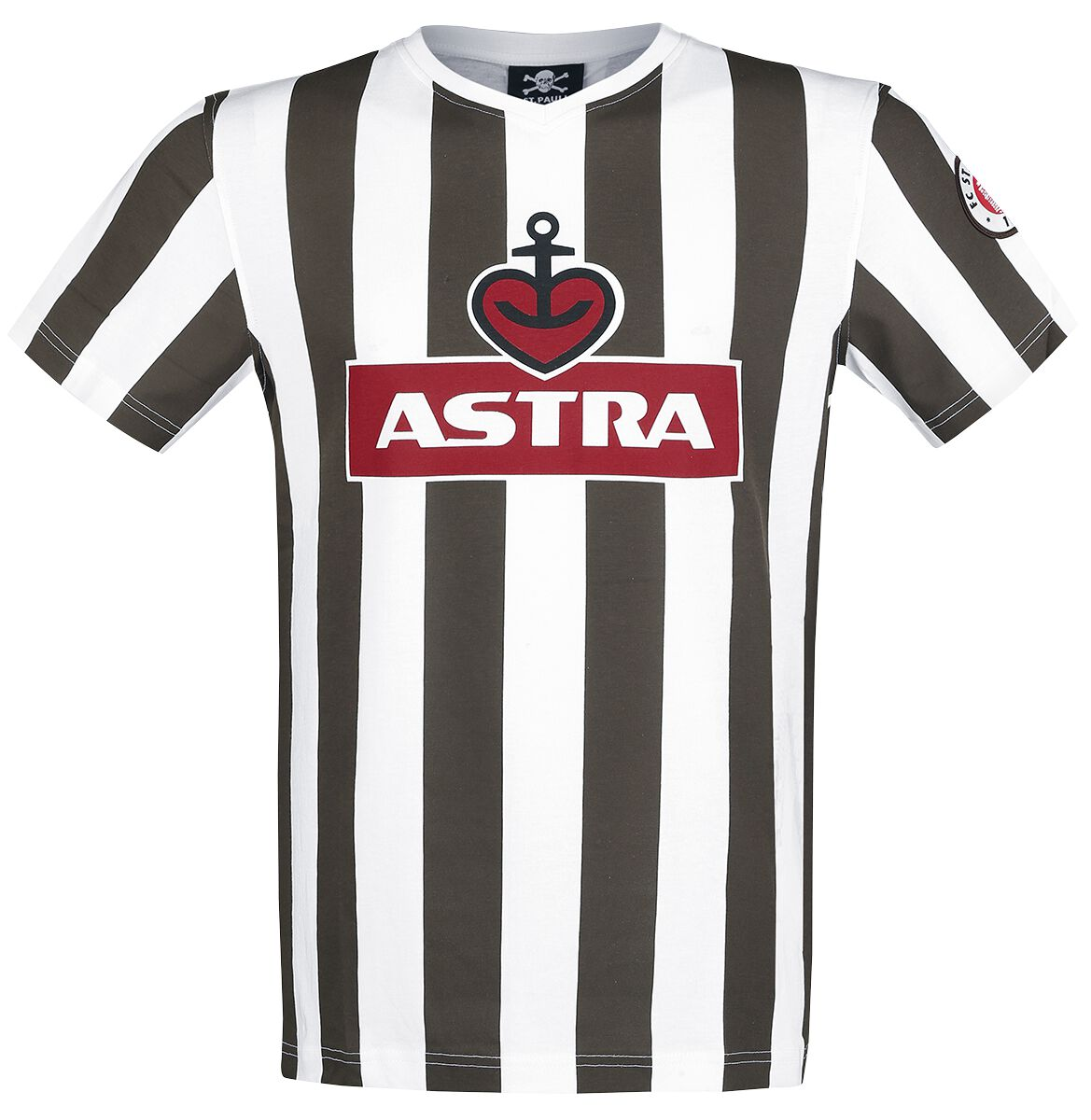 Image of   FC St. Pauli Traditions-Shirt Astra T-Shirt brun-hvid
