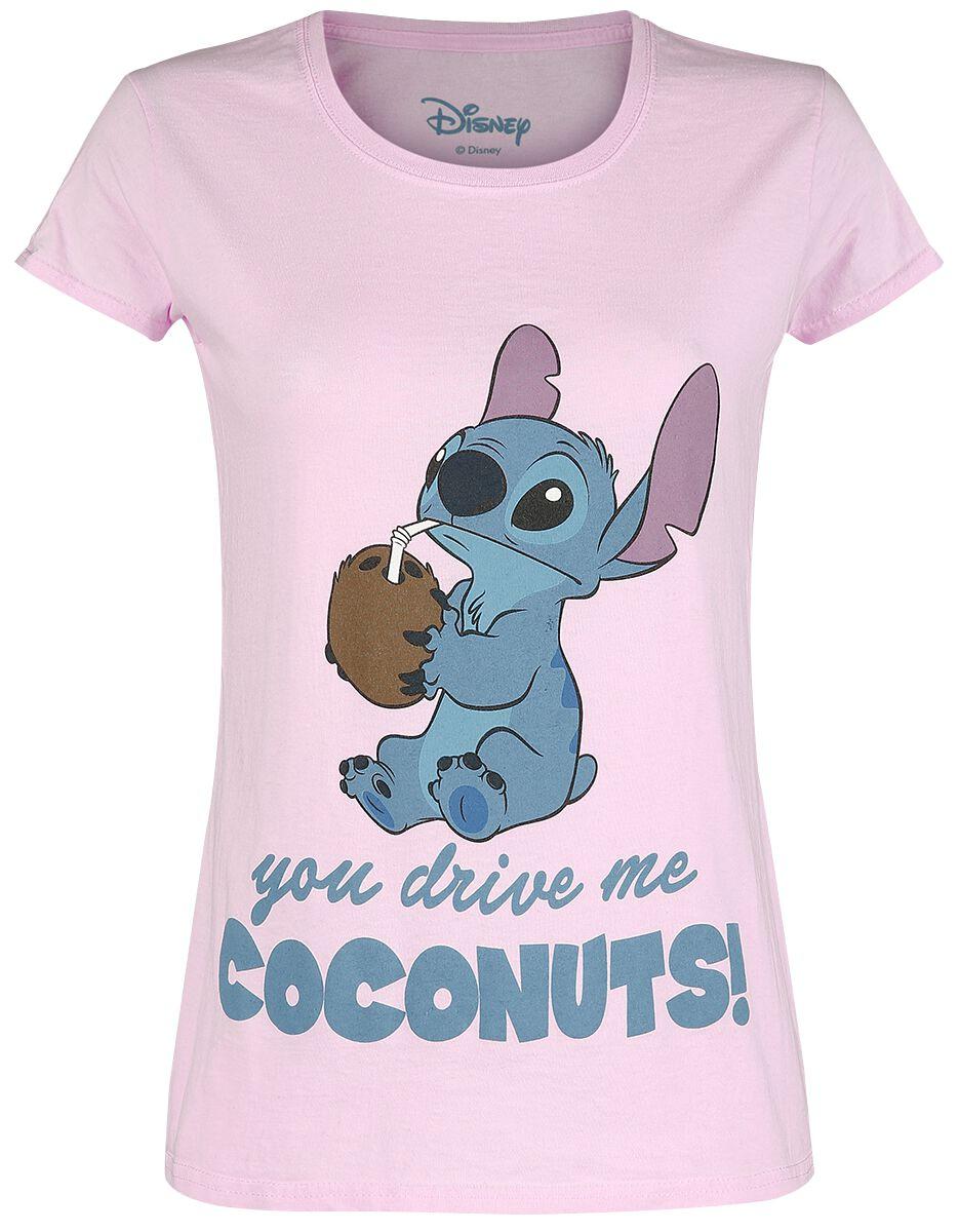 Lilo & Stitch Drive Me Coconuts Koszulka damska jasnoróżowy (Light Pink)