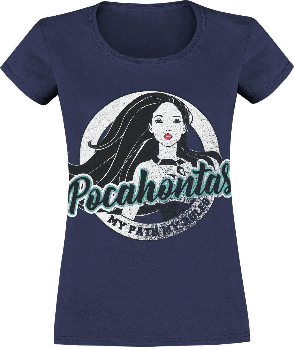 Pocahontas Disc Koszulka damska granatowy
