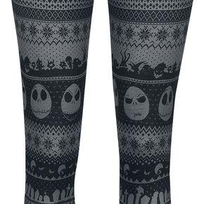 L'Étrange Noël De Monsieur Jack Intarsia Stripe Legging noir/gris
