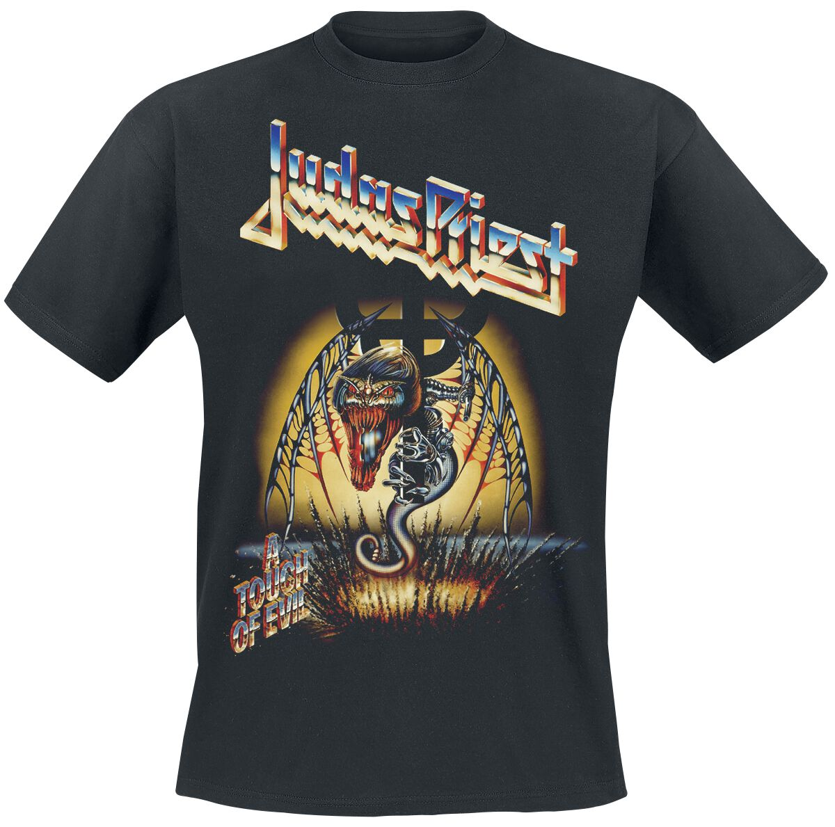 Image of   Judas Priest A Touch Of Evil T-Shirt sort