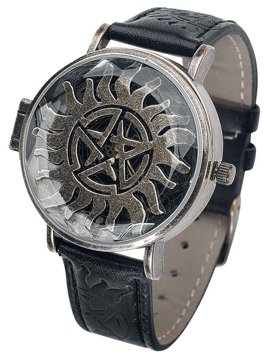 Uhren für Frauen - Supernatural Anti Possession Armbanduhr schwarz  - Onlineshop EMP