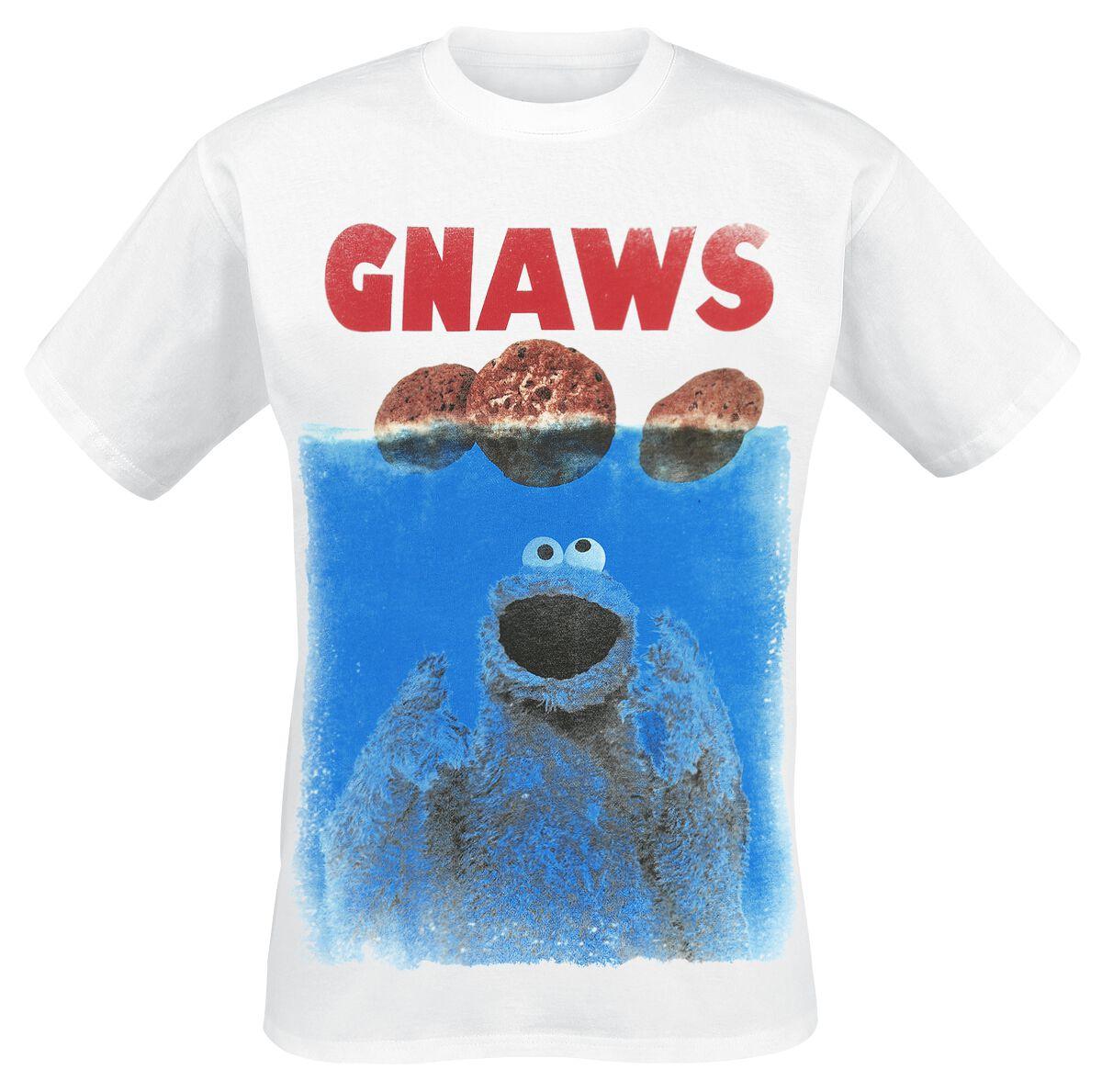 Image of   Sesamstrasse Krümelmonster - Arcarde T-Shirt sort