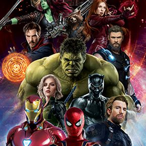 Avengers Infinity War - Characters Poster de porte multicolore