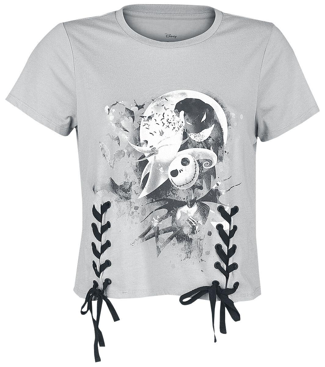 Image of   The Nightmare Before Christmas Splatter Girlie trøje lys grå