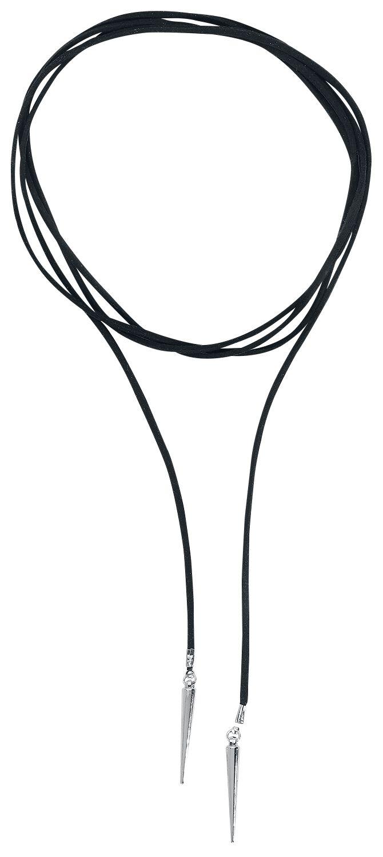 Image of   Wildcat Spike Suede Necklace Halskæde sort-sølv