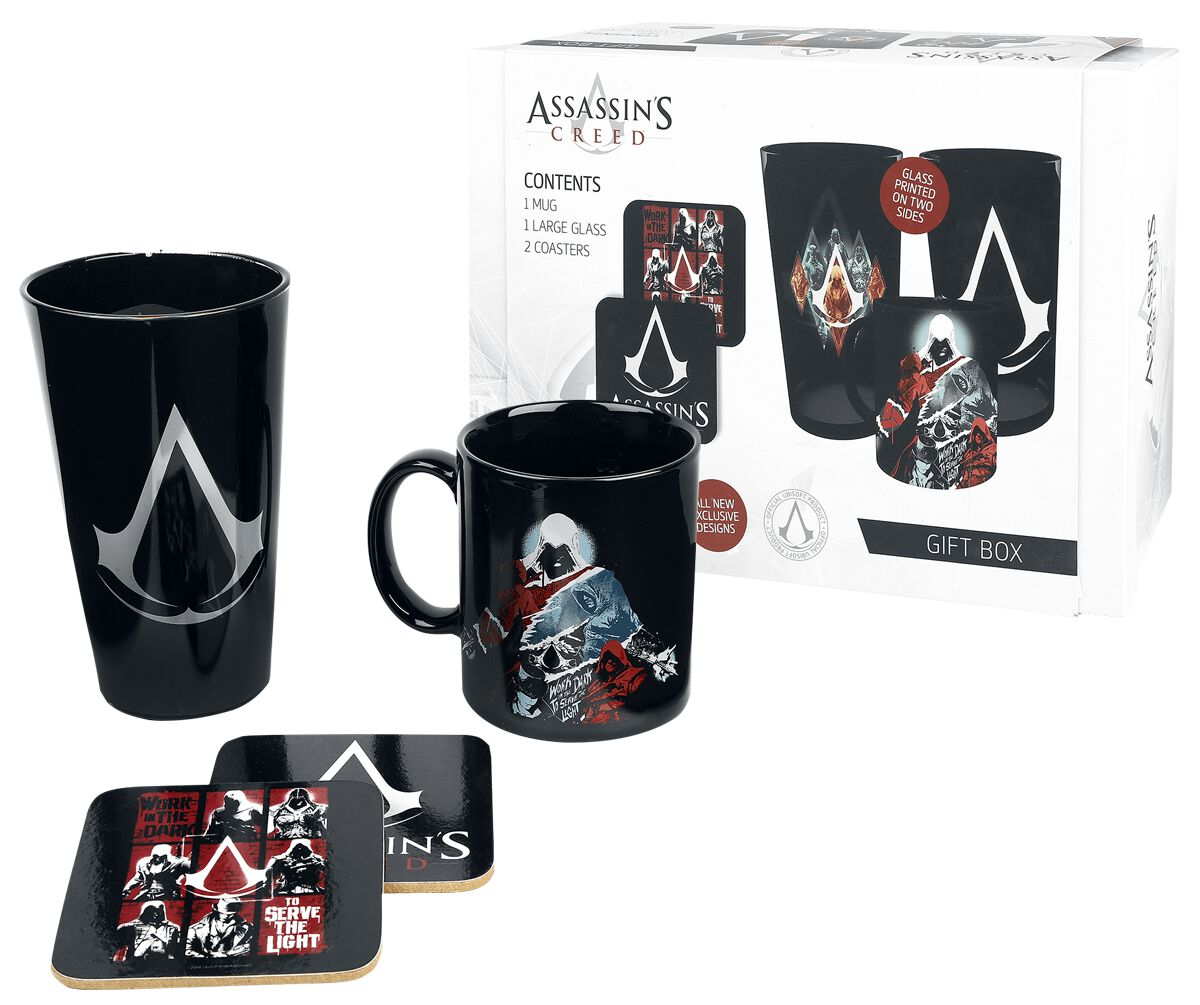 Image of   Assassin's Creed Gaveæske Fanpakke multifarvet