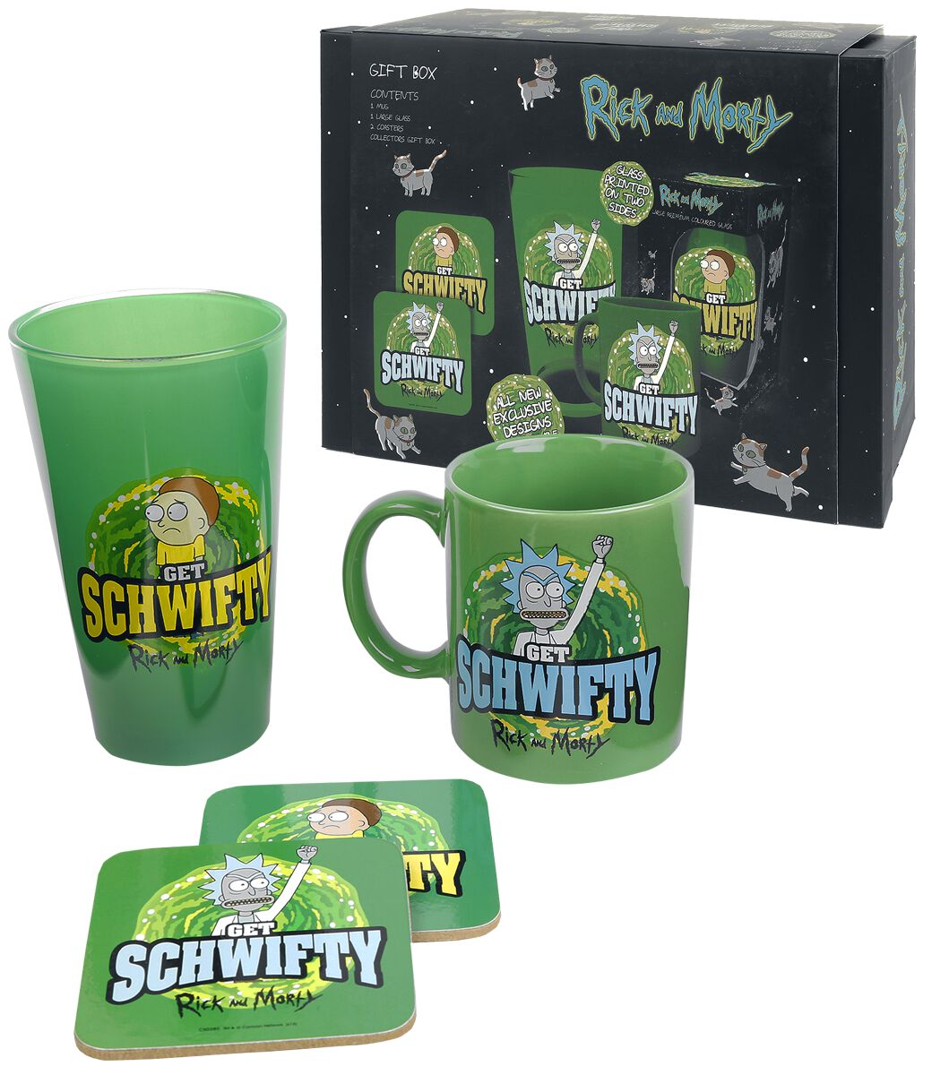 Image of   Rick And Morty Get Schwifty - gaveæske Fanpakke multifarvet