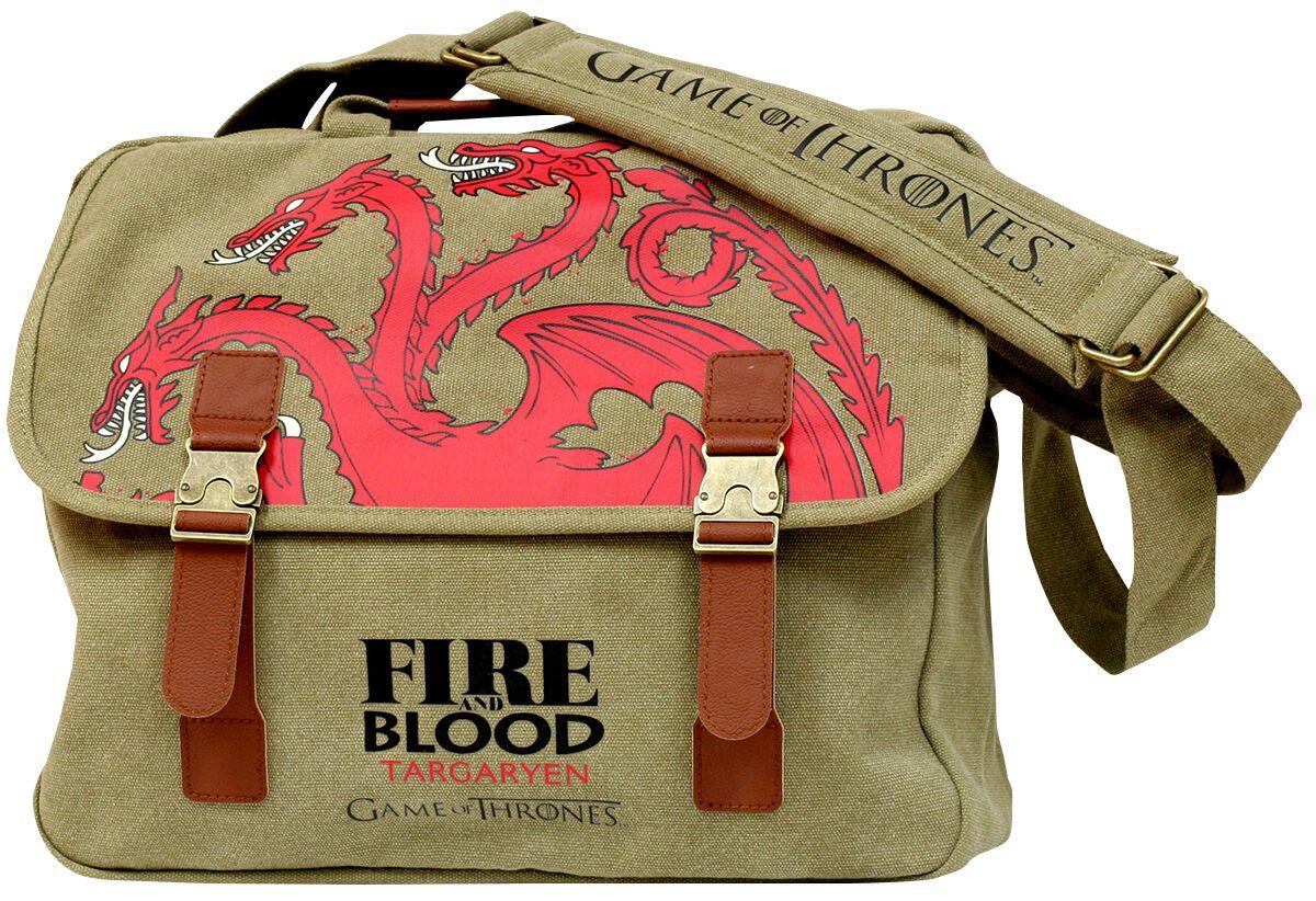 Game Of Thrones House Targaryen Messenger Bag b...
