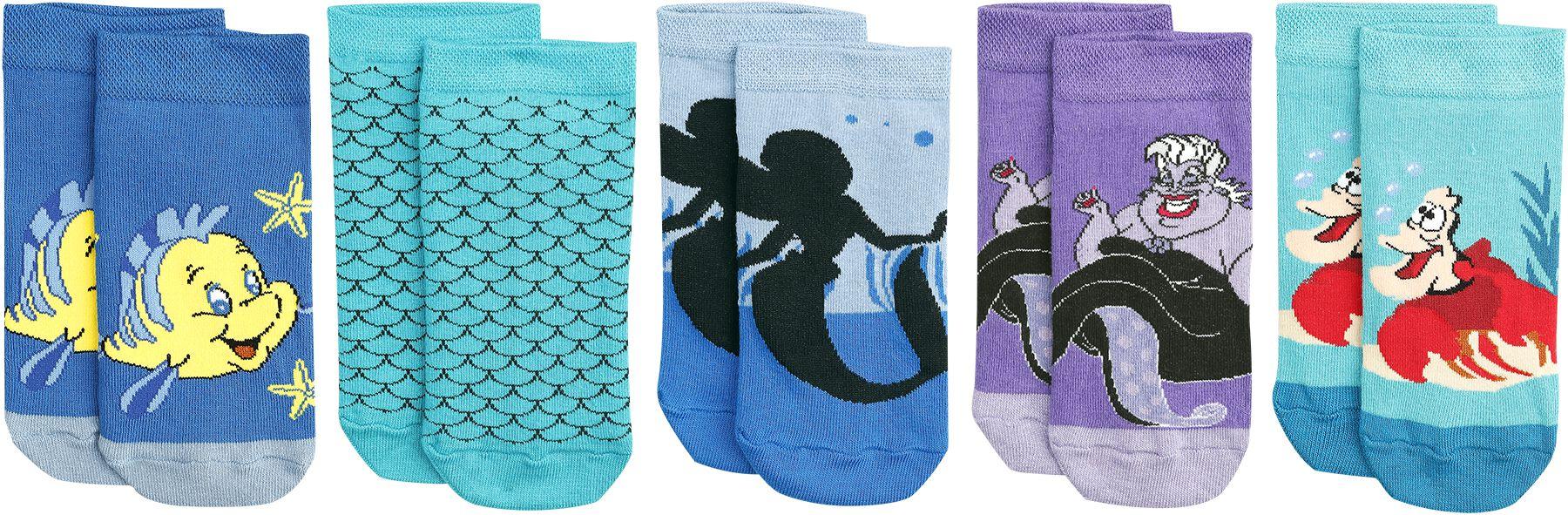 Socken für Frauen - Arielle die Meerjungfrau Sea Life Socken multicolor  - Onlineshop EMP
