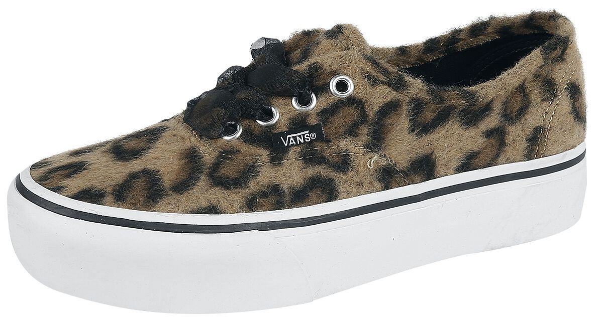 Image of   Vans Authentic Platform 2.0 Fuzzy Sneakers leopard