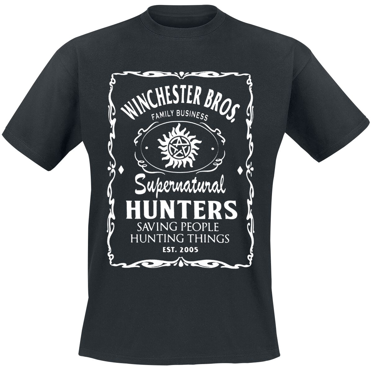 Image of   Supernatural Winchester Bros Logo T-Shirt sort