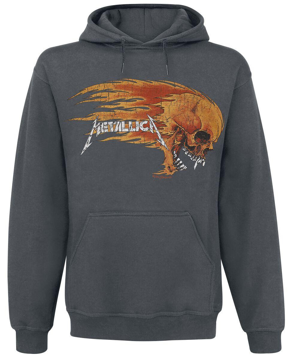 Image of   Metallica Flaming Skull Hættetrøje koks