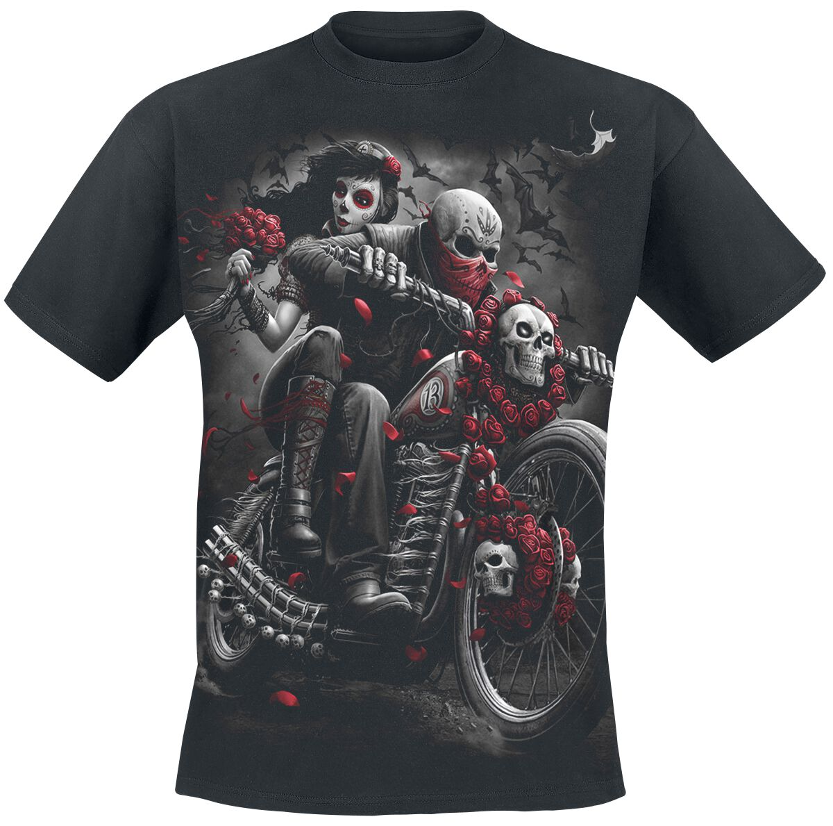 Image of   Spiral DOTD Bikers T-Shirt sort