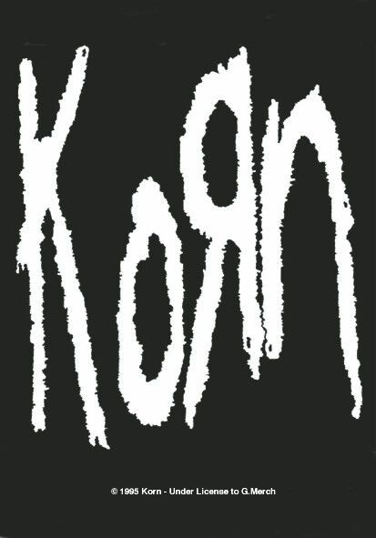 Image of   Korn Logo Flag sort-hvid