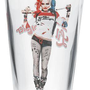 Suicide Squad Harley Bat Verre à pinte transparent