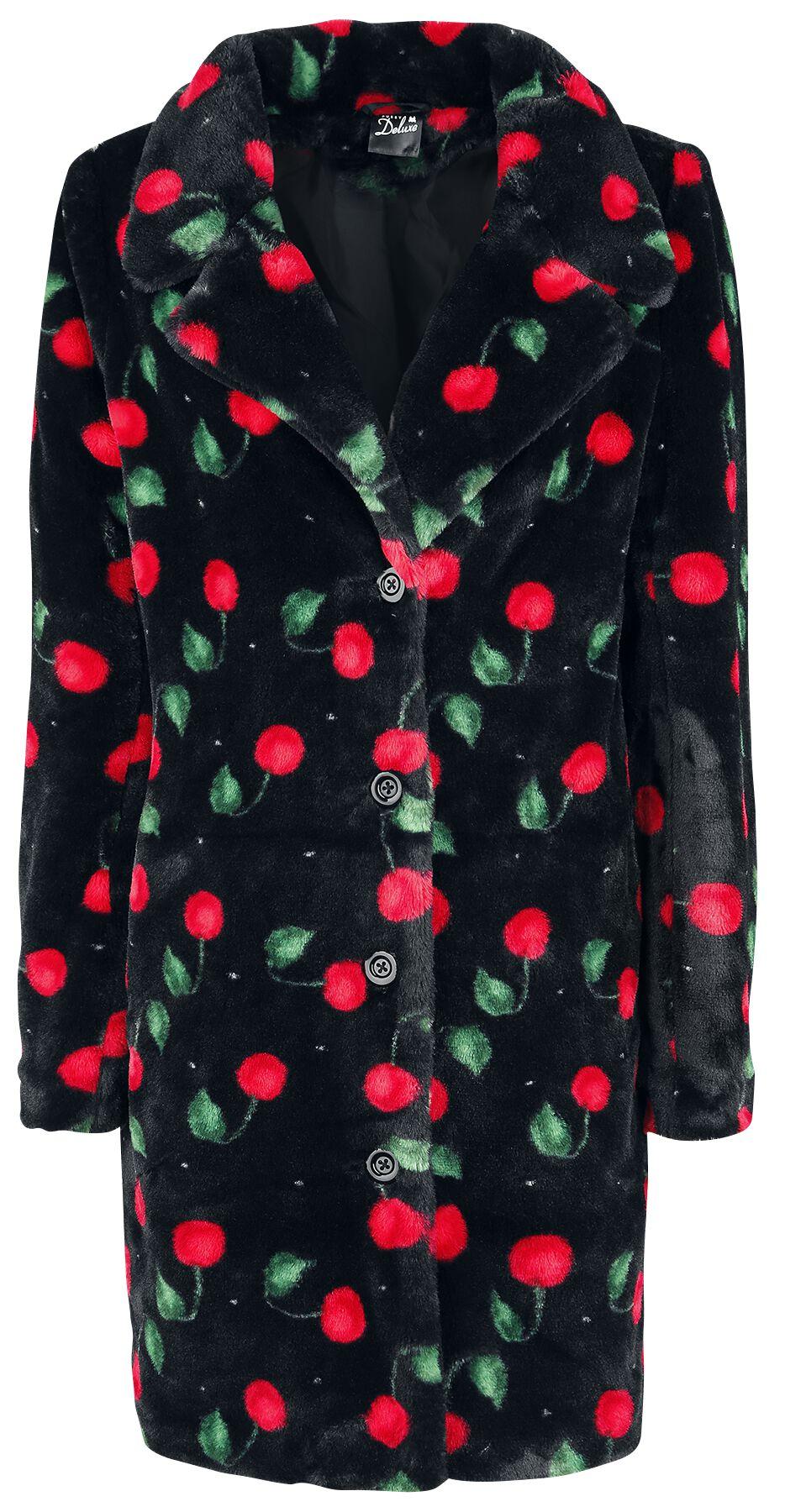 Image of   Pussy Deluxe Cherry Bomb Coat Girlie frakke sort