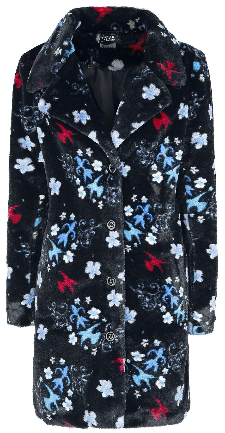 Image of   Pussy Deluxe Blossom Coat Girlie frakke sort