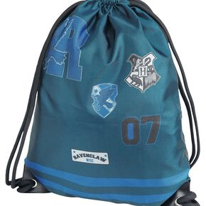 Harry Potter Serdaigle Sac de Gym bleu marine/gris
