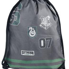 Harry Potter Serpentard Sac de Gym gris/vert