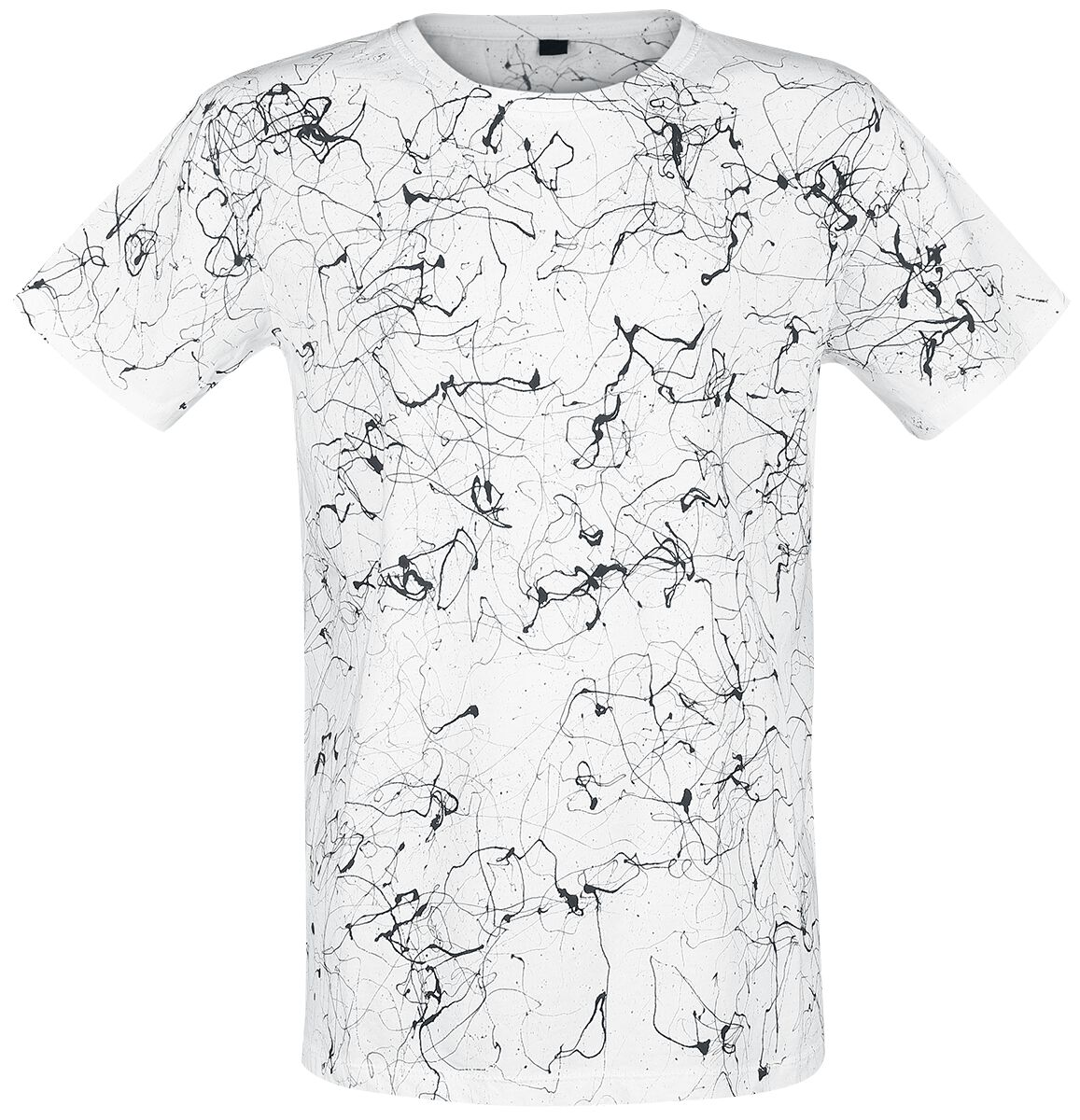 Image of   Outer Vision Dripped Black T-Shirt T-Shirt hvid