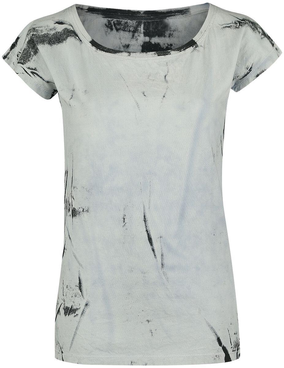 Image of   Outer Vision Marilyn Bleach Spray Girlie trøje hvid