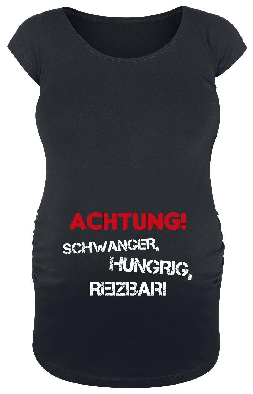 Umstandsmode Achtung! Schwanger, Hungrig, Reizb...