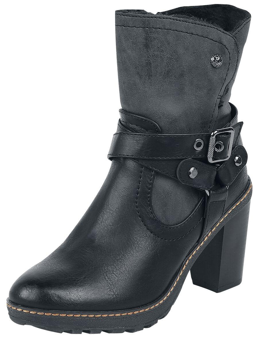 Stiefel für Frauen - Refresh Buckle Boot Boots schwarz  - Onlineshop EMP