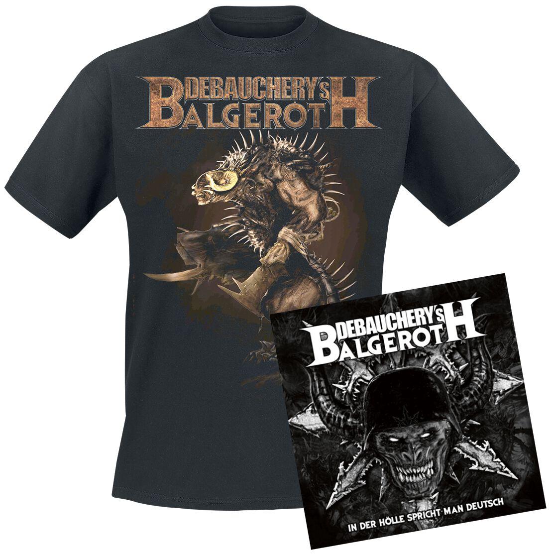 Image of   Debauchery VS. Balgeroth In der Hölle spricht man Deutsch 3-CD & T-shirt standard
