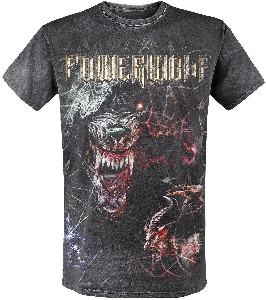 Image of   Powerwolf TSOS - Wolf T-Shirt mørk grå
