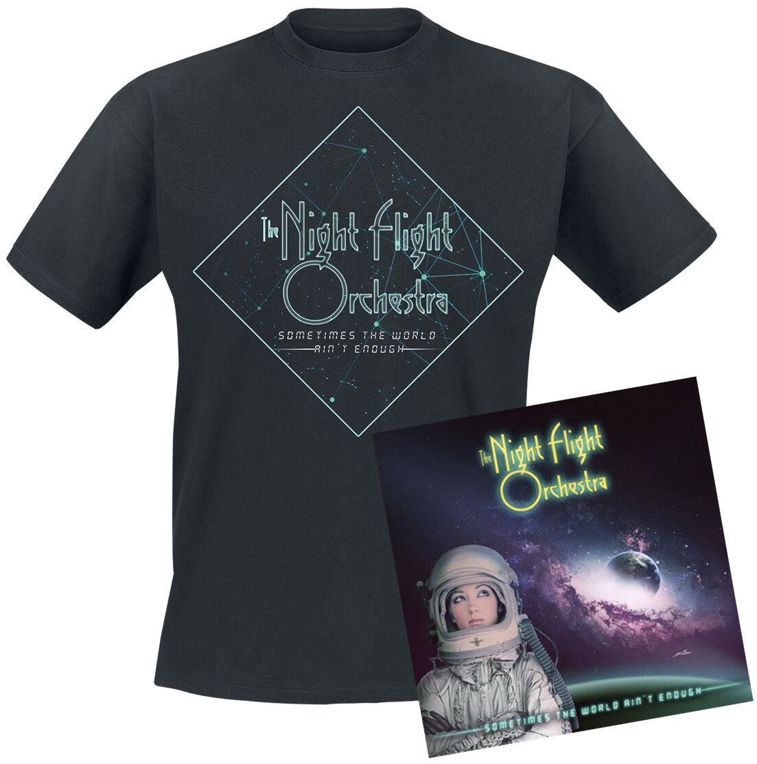Image of   The Night Flight Orchestra Sometimes the world ain't enough 2-LP & T-Shirt standard