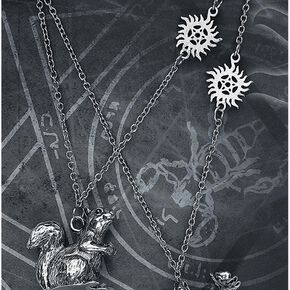 Supernatural Moose And Squirrel Collier couleur argent