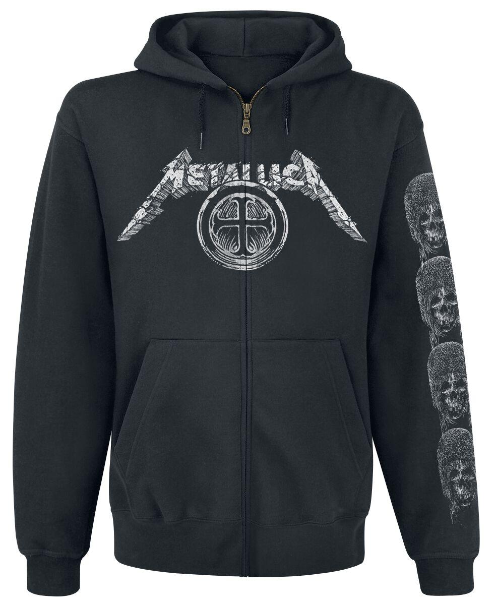Metallica Templar Kapuzenjacke schwarz