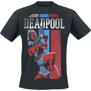 Deadpool Retro Stripes T-shirt noir
