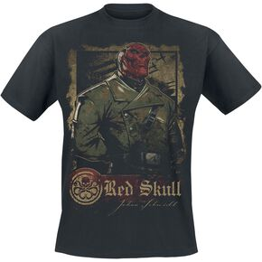 Captain America Red Skull - War T-shirt noir