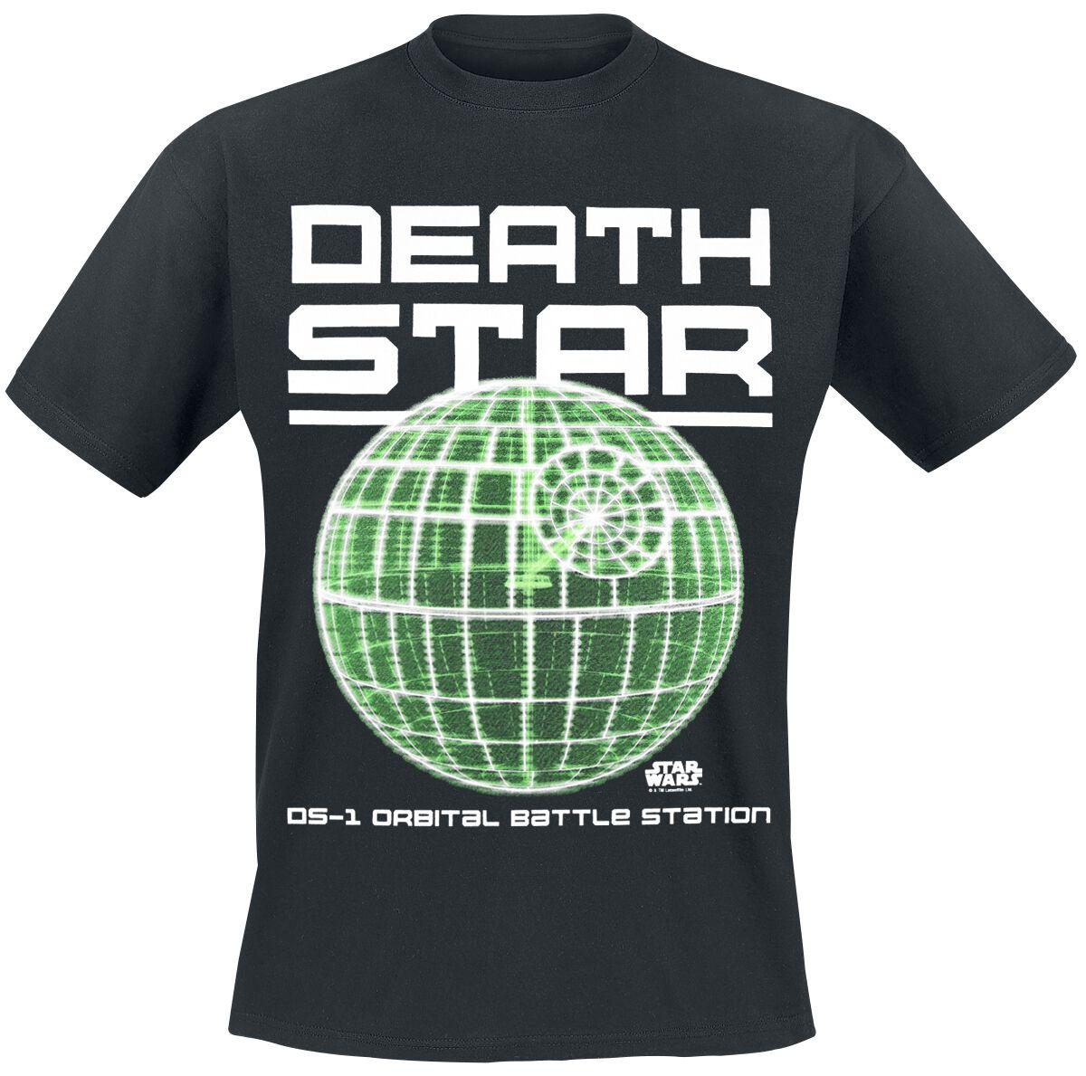 Image of   Star Wars Death Star - DS-1 Orbital Battle Station T-Shirt sort