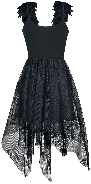vestido negro gótico