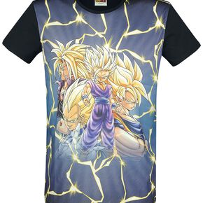 Dragon Ball Z Charaktere T-shirt noir