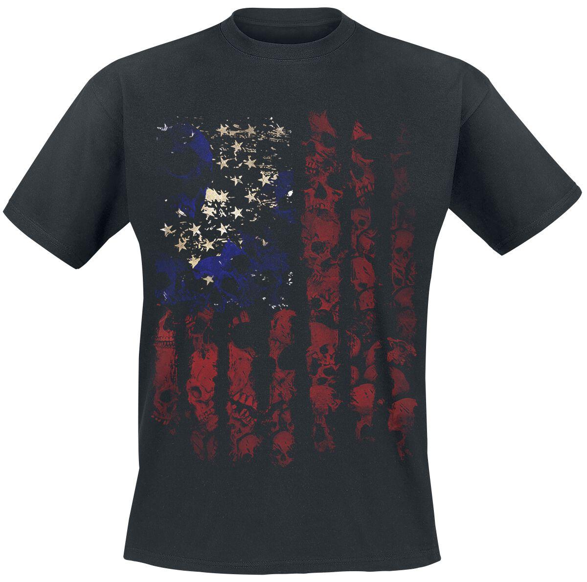 Image of   Skull Flag T-Shirt sort